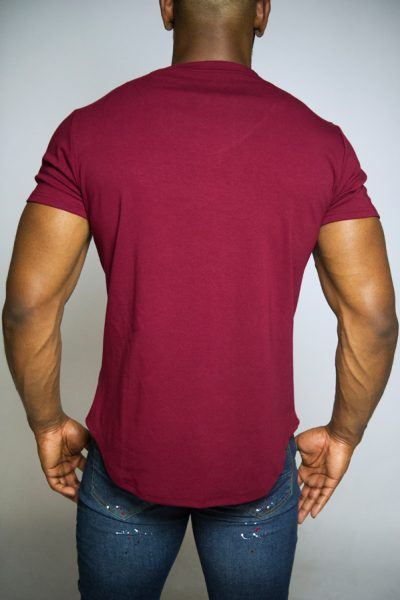 Bordeaux Slim Fit Heren T-Shirt