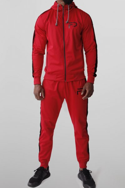 Finest Denim Tracksuit Rood