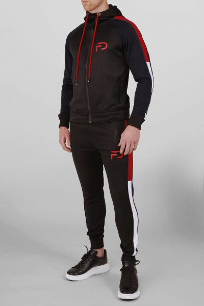 Finest Denim tracksuit Zwart