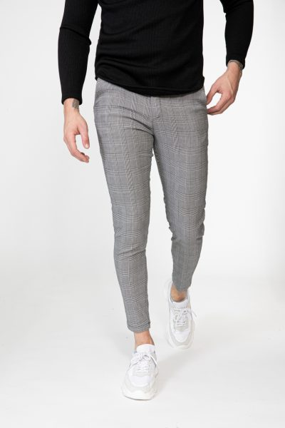 Geruite Slim Fit Chino Heren