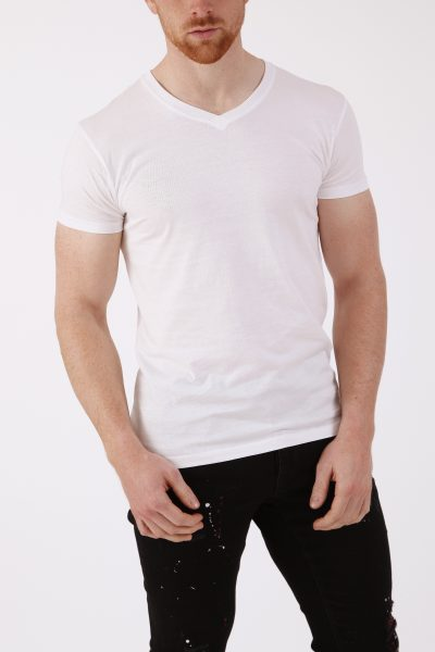 Wit Basic Heren T-shirt