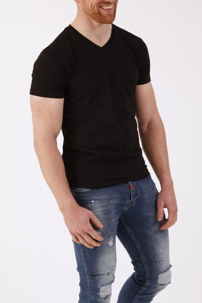 Zwart Basic Heren T-shirt